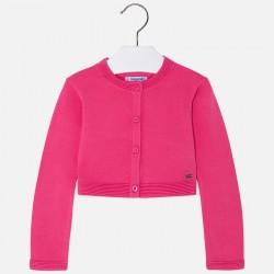 Mayoral 321-10 Trykotowy sweterek dla dziewczynki