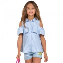 Mayoral Bluzka 6116-74 z odkrytymi ramionami i falbanką dla dziewczynki