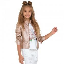 Mayoral Kurtka 6416-12 ze skóry ekologicznej dla dziewczynki