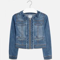 Mayoral Kurtka 6418-47 jeansowa dla dziewczynki