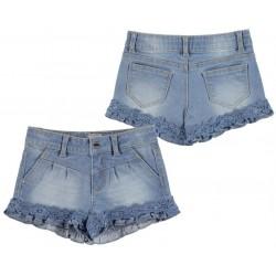 Mayoral szorty jeansowe z koronką 3204 kolor 050