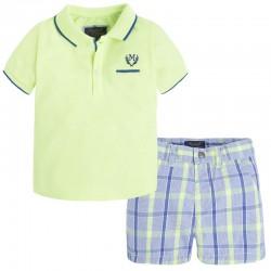 Mayoral Komplet koszulka polo, bermudy 1245 kolor 045