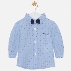 Mayoral Niebieska koszula z muszką 2102 -78