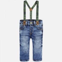 Mayoral spodnie jeansowe z szelkami 2580 -63