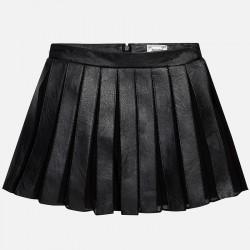 Mayoral czarna spódnica plisowana skóra 7910 23