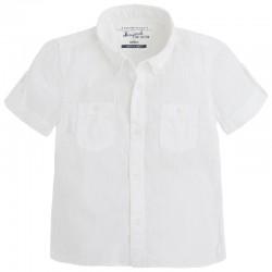 Biała Koszulka chłopięca Mayoral 1115 kolor 066 biały