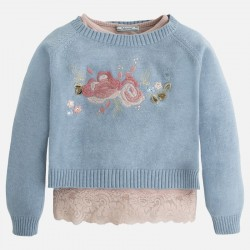 Mayoral komplet sweter z koszulka 4320 -32