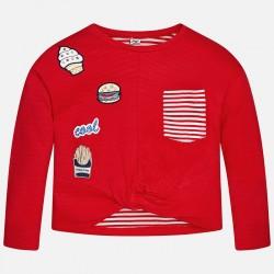 Mayoral 6437-11 Bluza z kieszonką i naszywkami dla dziewczynki