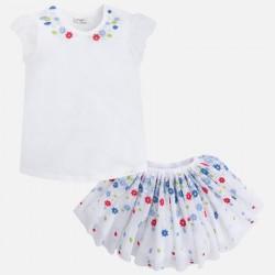 Mayoral 3988-29 Tiulowa spódnica i koszulka z bufkami