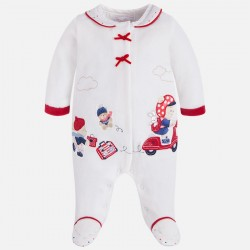 Mayoral 2743-50 Ciepła piżama z dzianiny welurowej dla dziewczynki