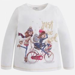 Mayoral bluzka 4043-10 z długim rękawem dla dziewczynki
