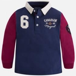 Mayoral bluzka polo 4115-73 dla chłopca z długim rękawem z dzianiny rugby