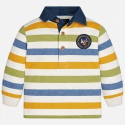 Mayoral bluzka 2125-42 koszulka polo w paski z długim rękawem
