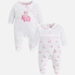 Mayoral 2741-51 Zestaw dwóch piżamek dla dziewczynki z dzianiny interlock