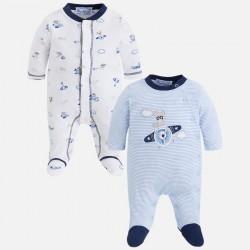 Mayoral 2723-57 Zestaw dwóch chłopięcych piżamek z dzianiny interlockowej