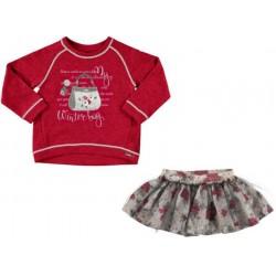 Mayoral komplet 4975-29 dla dziewczynki z spódnicą