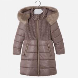 Mayoral płaszcz 4473-59 Długa kurtka dla dziewczynki z kapturem