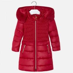 Mayoral płaszcz 4473-62 Długa kurtka dla dziewczynki z kapturem