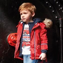 Mayoral kurtka 4449-18 Parka chłopięca z futerkiem przy kapturze