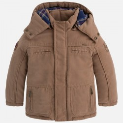 Mayoral kurtka 4406-20 typu parka dla chłopca z flanelową podszewką