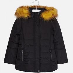 Mayoral kurtka 7489-90 dla dziewczynki ocieplana z futerkiem i haftem