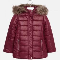 Mayoral kurtka 7489-93 dla dziewczynki ocieplana z futerkiem i haftem