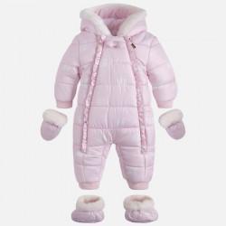 Mayoral kombinezon 2613-30 Niemowlęcy  misie z futerkiem dla dziewczynki kolor różowy