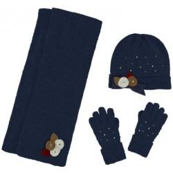 Mayoral komplet 10291-58 czapka szalik rękawiczki