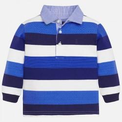 Mayoral bluzka 2113-53 Chłopięca koszulka polo z długim rękawem z dzianiny żakardowej