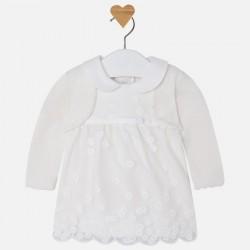 Mayoral sukienka 2823-52 Dziewczęca z bolerkiem z długim rękawem