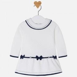 Mayoral sukienka 2857-60 z długim rękawem z dzianiny warstwowej