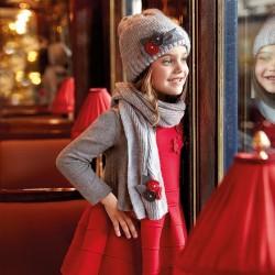 Mayoral sukienka 4931-28 dziewczęca z podwójnej dzianiny z krótkim rękawem