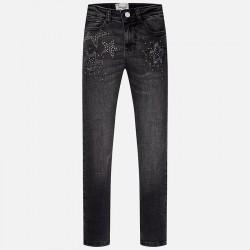 Mayoral spodnie 7537-22 długie z serży jeansowej dla dziewczynki