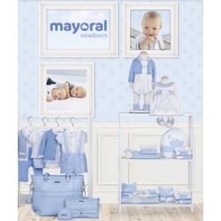 Mayoral nowa kolekcja wiosna lato 2018 zestaw chłopięcy i dziewczęcy BLUE BONNET NEWBORN r50-80