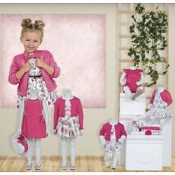 Mayoral  nowa kolekcja wiosna lato 2018 zestaw dziewczęcy JARDIN BABY r62-98