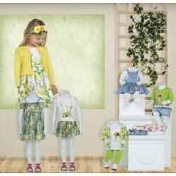 Mayoral nowa kolekcja wiosna lato 2018 zestaw dziewczęcy VERDE BABY r62-98