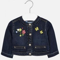 Mayoral Kurtka 1424-50 jeansowa dla dziewczynki z haftami