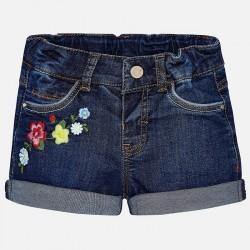 Mayoral Szorty 1242-05 dziewczęce jeansowe z haftem