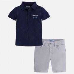 Mayoral komplet 3286-94 z bermudami i koszulką polo dla chłopca