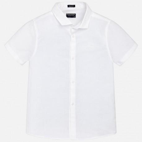 Mayoral Koszula 870-38 Lniana koszula z krótkim rękawem dla chłopca