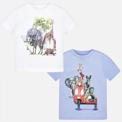 Mayoral komplet 1060-45 Zestaw 2 koszulek z krótkim rękawem dla chłopca