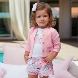 Mayoral komplet 1262-78 z bermudami i koszulką dla dziewczynki baby