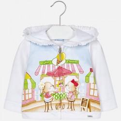 Mayoral bluza 1430-91 dla dziewczynki baby z nadrukiem