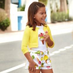 Mayoral Bermudy 3200-49 z satyny dla dziewczynki