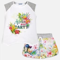 Mayoral Komplet 6222-41 z szortami i koszulką dla dziewczynki