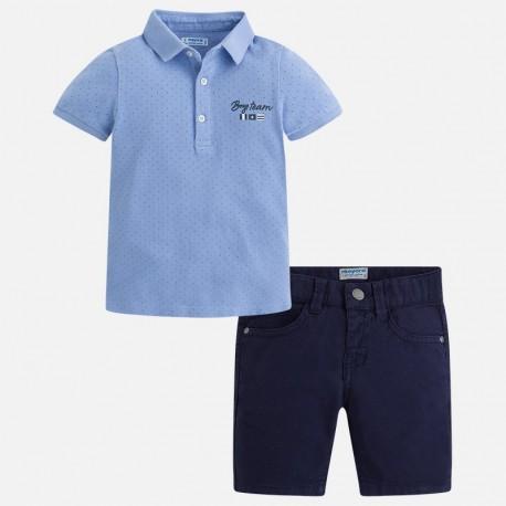 Mayoral komplet 3286-96 z bermudami i koszulką polo dla chłopca