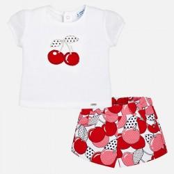 Mayoral komplet 1262-80 z bermudami i koszulką dla dziewczynki baby
