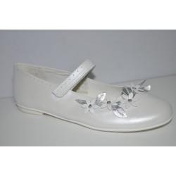 Buty komunijne dziewczęce Primigi 14367 kolor biały perła