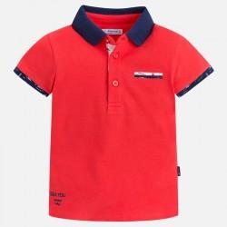 Mayoral bluzka 3134-31 polo z krótkim rękawem i aplikacjami dla chłopca