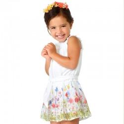 Mayoral kombinezon 3804-72 krótki z szyfonu dla dziewczynki